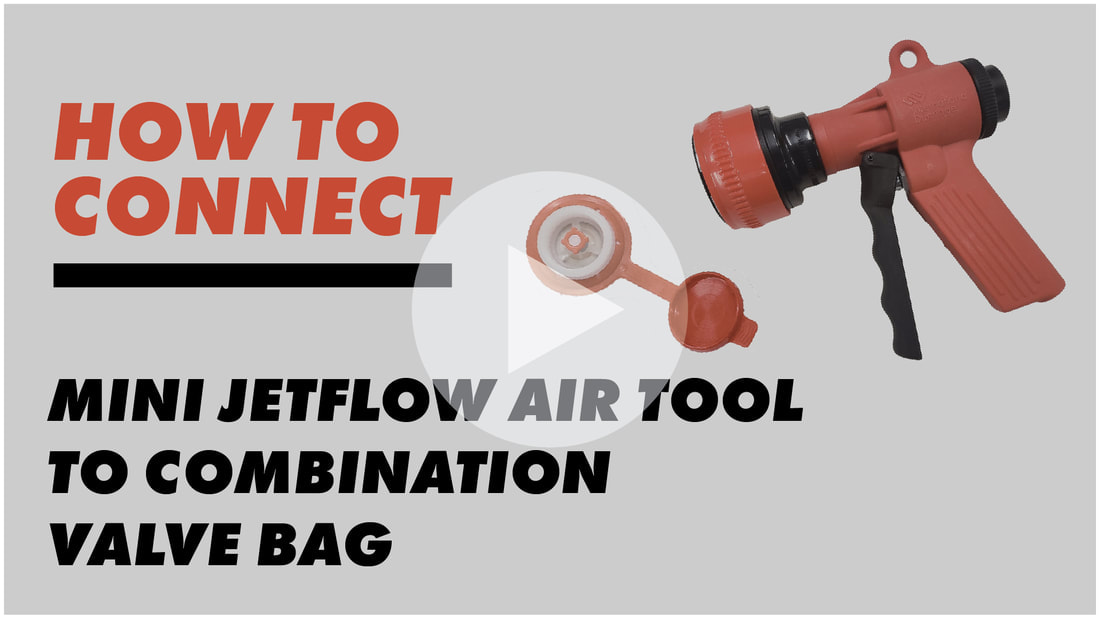 mini jetflow air tool, combination valve attachment, combination valve