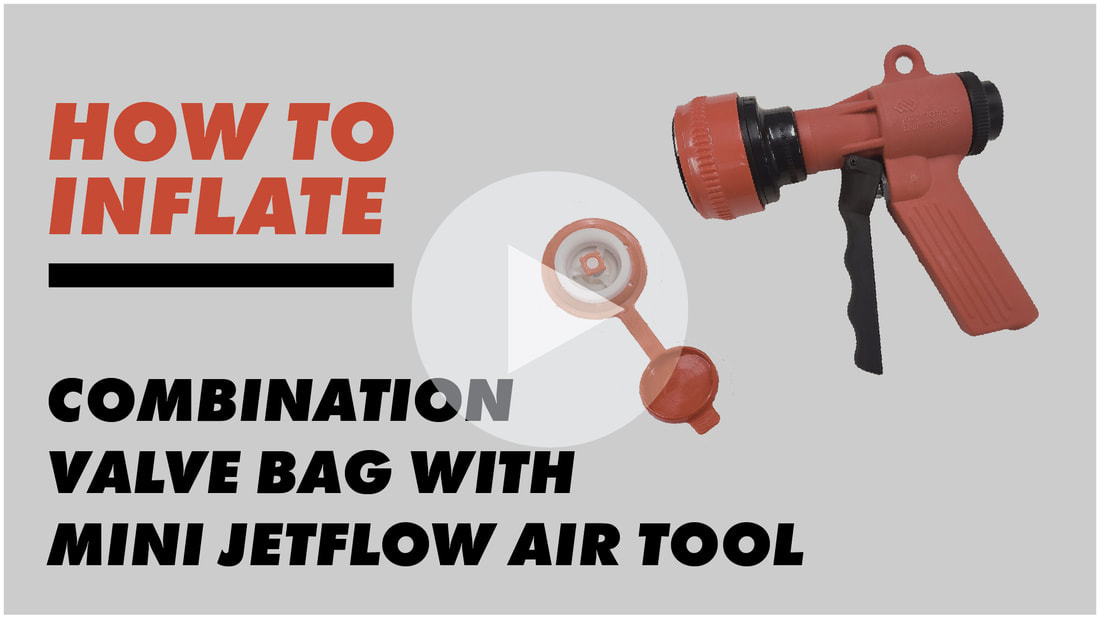 inflating the Combination Valve Bag ​with the Mini Jetflow Air Tool