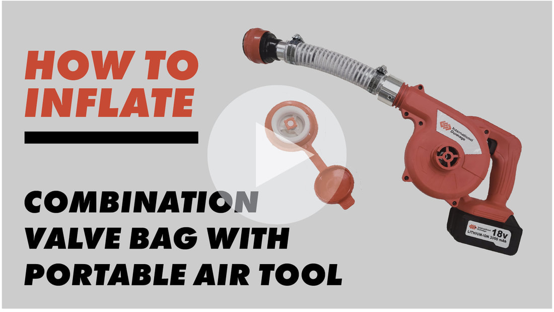 inflating the Combination Valve Bag ​with the Portable Air Tool